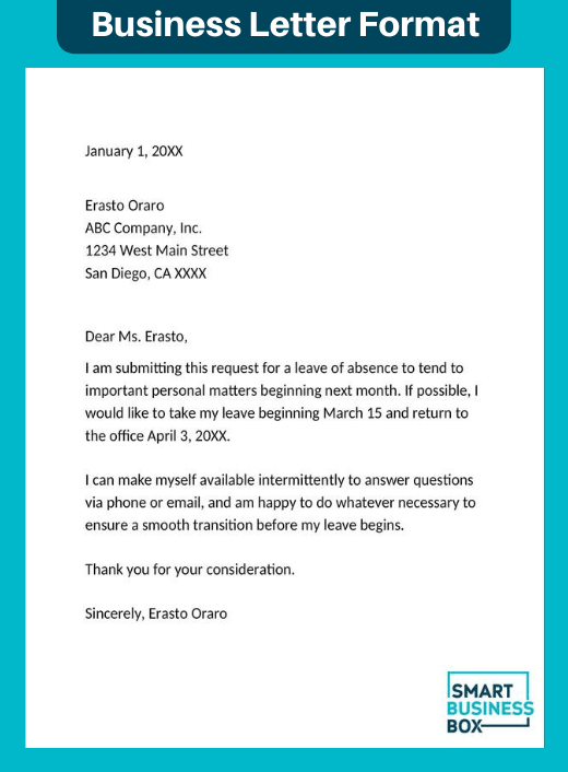 Types of business letter